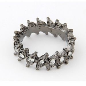 Charcoal Crown Gems Ring